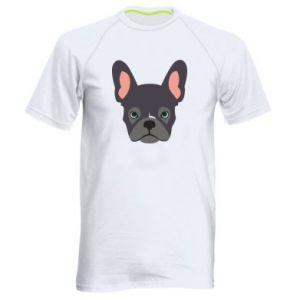 Men's sports t-shirt Black french bulldog - PrintSalon