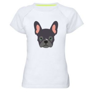 Women's sports t-shirt Black french bulldog - PrintSalon