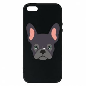 Etui na iPhone 5/5S/SE Black french bulldog