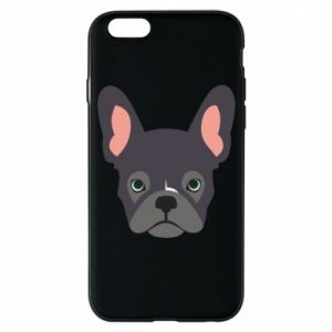 Etui na iPhone 6/6S Black french bulldog