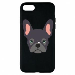 Etui na iPhone 7 Black french bulldog