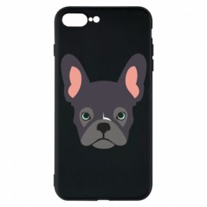 Etui na iPhone 7 Plus Black french bulldog