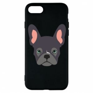 Etui na iPhone 8 Black french bulldog