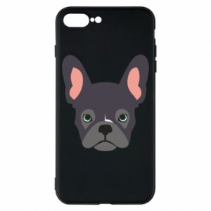 Etui na iPhone 8 Plus Black french bulldog