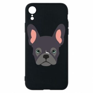 Etui na iPhone XR Black french bulldog