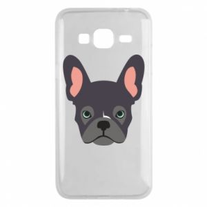 Etui na Samsung J3 2016 Black french bulldog
