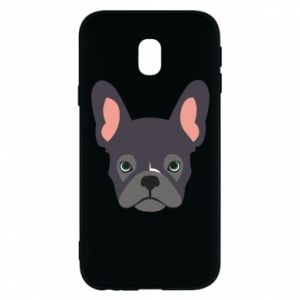 Etui na Samsung J3 2017 Black french bulldog