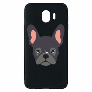 Etui na Samsung J4 Black french bulldog