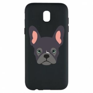 Etui na Samsung J5 2017 Black french bulldog