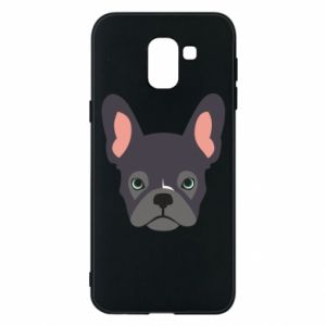 Etui na Samsung J6 Black french bulldog