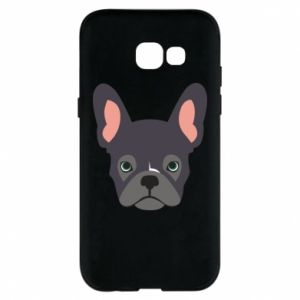 Etui na Samsung A5 2017 Black french bulldog