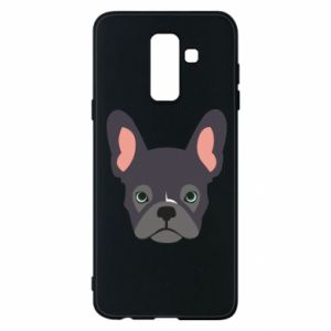 Etui na Samsung A6+ 2018 Black french bulldog