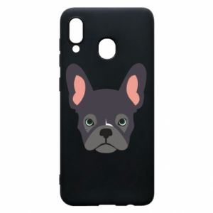 Etui na Samsung A20 Black french bulldog