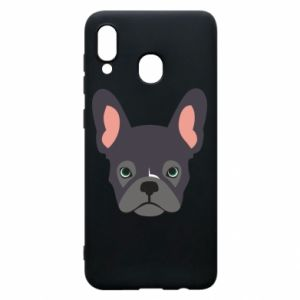 Etui na Samsung A30 Black french bulldog