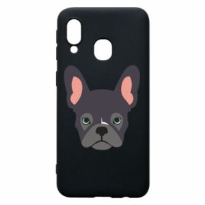 Etui na Samsung A40 Black french bulldog