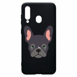 Etui na Samsung A60 Black french bulldog