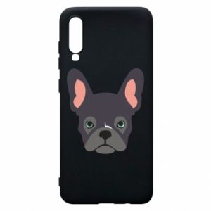 Etui na Samsung A70 Black french bulldog