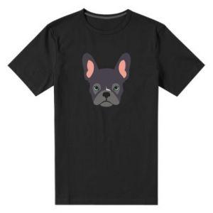 Męska premium koszulka Black french bulldog