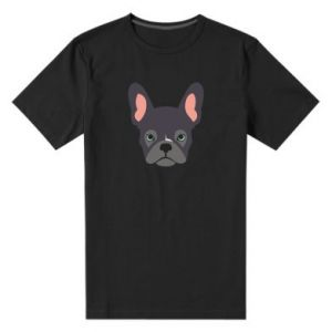 Men's premium t-shirt Black french bulldog - PrintSalon