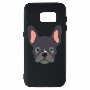 Etui na Samsung S7 Black french bulldog