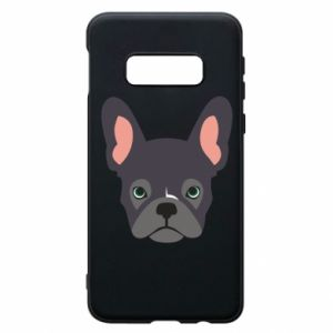 Etui na Samsung S10e Black french bulldog
