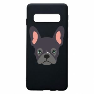 Etui na Samsung S10 Black french bulldog
