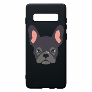 Etui na Samsung S10+ Black french bulldog