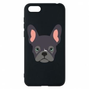 Etui na Huawei Y5 2018 Black french bulldog