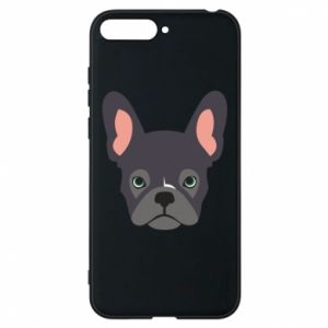Etui na Huawei Y6 2018 Black french bulldog
