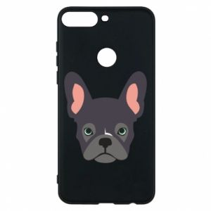 Etui na Huawei Y7 Prime 2018 Black french bulldog