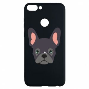 Etui na Huawei P Smart Black french bulldog