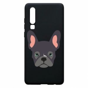 Etui na Huawei P30 Black french bulldog