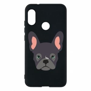 Phone case for Mi A2 Lite Black french bulldog