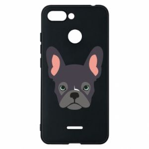 Etui na Xiaomi Redmi 6 Black french bulldog