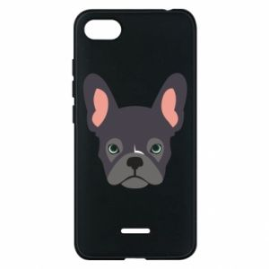 Etui na Xiaomi Redmi 6A Black french bulldog