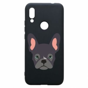 Etui na Xiaomi Redmi 7 Black french bulldog
