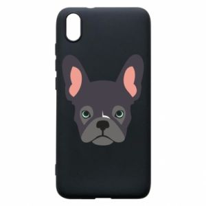Etui na Xiaomi Redmi 7A Black french bulldog