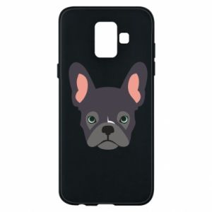 Etui na Samsung A6 2018 Black french bulldog
