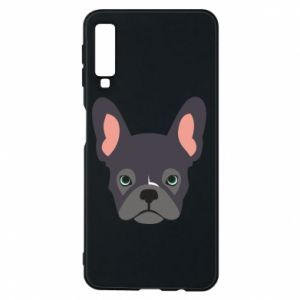 Etui na Samsung A7 2018 Black french bulldog