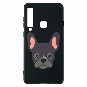 Etui na Samsung A9 2018 Black french bulldog