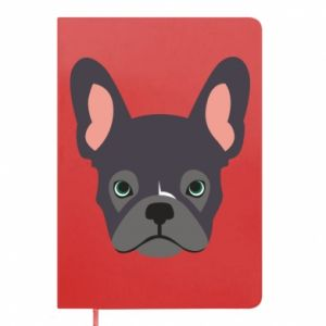 Notepad Black french bulldog