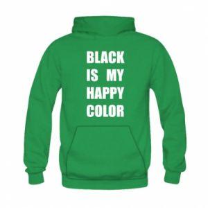 Bluza z kapturem dziecięca Black is my happy color