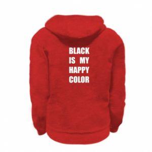 Bluza na zamek dziecięca Black is my happy color