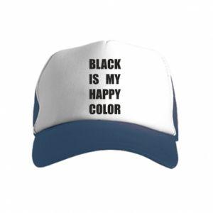 Czapka trucker dziecięca Black is my happy color