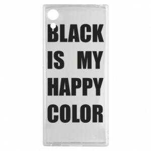 Etui na Sony Xperia XA1 Black is my happy color