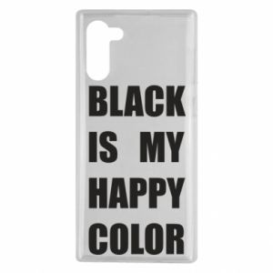 Etui na Samsung Note 10 Black is my happy color