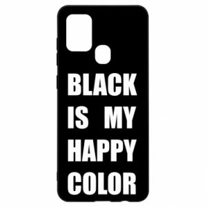Etui na Samsung A21s Black is my happy color