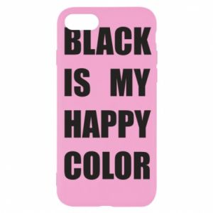 Etui na iPhone SE 2020 Black is my happy color