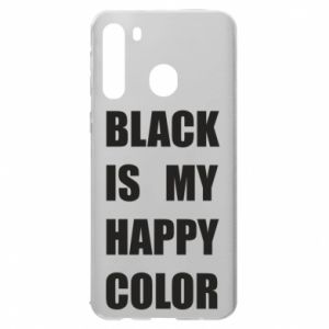 Etui na Samsung A21 Black is my happy color