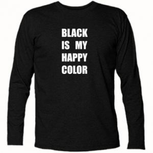 Long Sleeve T-shirt Black is my happy color